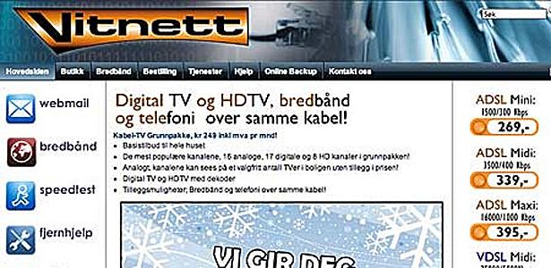 Vitnett med trådløst internett i Storlidalen