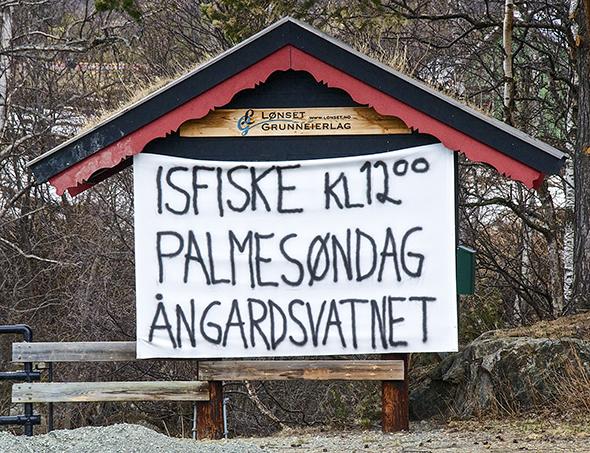 Årets isfiskekonkurranse på Ångardsvatnet er avlyst. (Arkivfoto: Toralv Østvang)