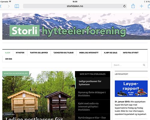 Slik ser bildevignetten for Storlidalen.no ut på en nettskjerm i breddeformat.