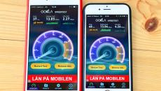 BEVISET: Mobilen til venstre er koblet opp mot NetCom, mobilen til høyre mot Telenor. (Foto: Toralv Østvang)